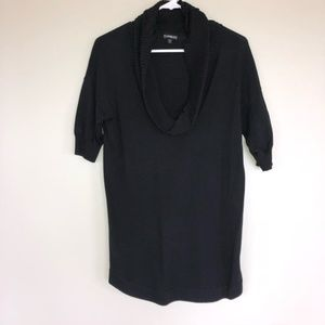 Express Black Cowl Neck Cozy Tunic Sweater Top S